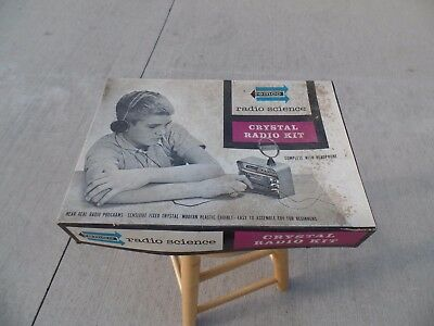 Remco Crystal Radio Kit #106 / In Box, Complete & Never Assembled / Circa 1962