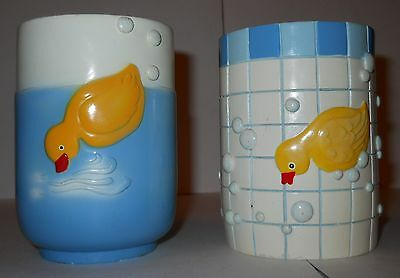 "Ducky Tumblers, Adorable Yellow Ducky Designs, 4"" Resin Tumblers, 2 Designs!"