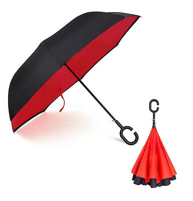 Inverted Inside-Out Double Layer Automatic Open Umbrella (PERFECT RAIN OR SHINE)