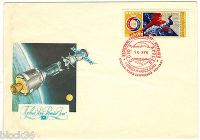 1975 Soviet Russian NEW YEAR Letter cover SALUTES MOSCOW KREMLIN