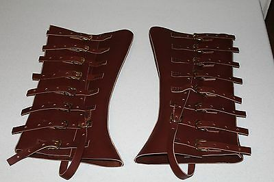 Civil War Sharpshooter Leather Gaiters Leggings Berdan Union Hand Made In Usa