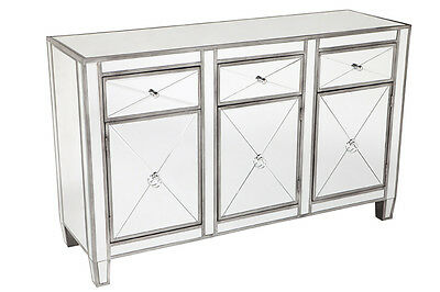 Apolo Buffet Antique Silver Mirror buffet sideboard Mirrored furniture