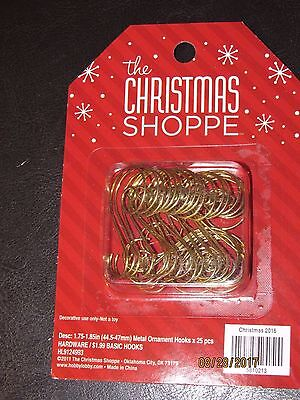 25 Gold Swirl Decorative Christmas Tree Ornament Hooks