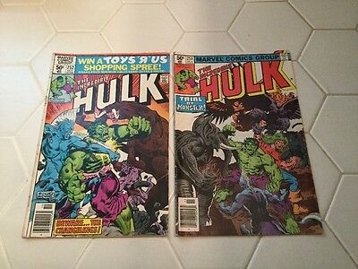 The Incredible Hulk #252,253 Lot Of Two