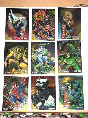 1995 Fleer ULTRA Spider-Man CHASE INSERT GOLDEN WEB 9 Card Set! VENOM CARNAGE!