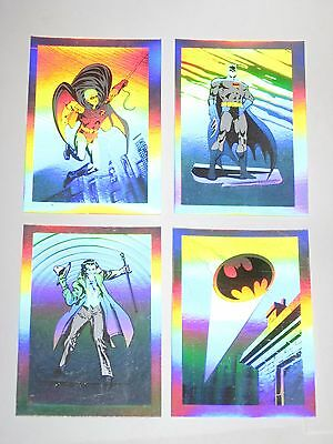 1991 DC Comics BATMAN Promo HOLOGRAM 4 Card SET! ROBIN! GOTHAM! JOKER!