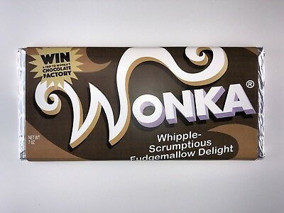 Willy Wonka Chocolate Bar Real Chocolate Firm Price
