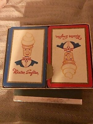VTG 1961 Mr. Softee Ice Cream 2 decks Playing Cards National Dealer Convention