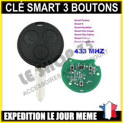 Clé vierge Smart Fortwo Roadster Forfour