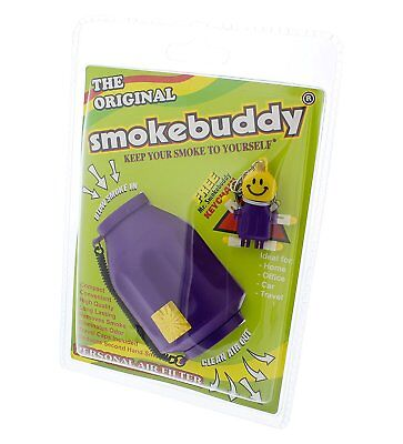 Smoke Buddy Personal Air Purifier Cleaner Filter Removes Odor (Purple)