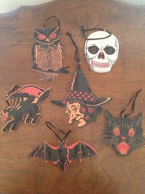Bethany Lowe Vintage Image Halloween Ornaments Set of 6