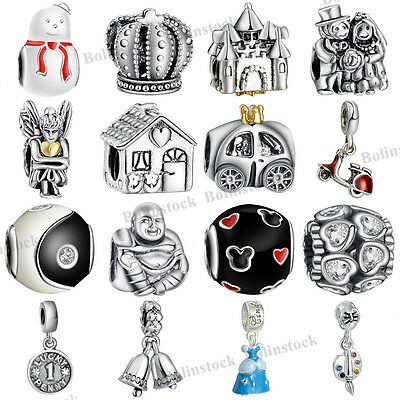 925 European Sterling Charms Silver Dangle Bead for Bracelet Chain Necklace CA