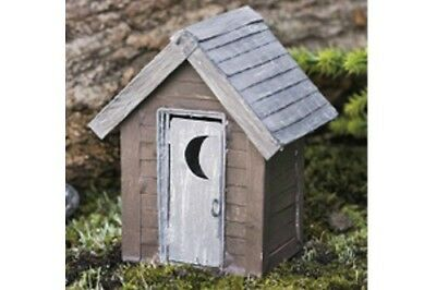 Miniature Dollhouse FAIRY GARDEN - Fairy Outhouse - Accessories