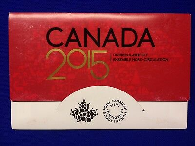 2015 Canadian Proof-Like Set With 6 Sealed Coins And Coa