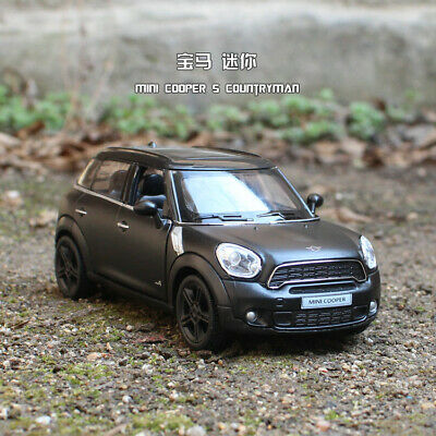 BMW Mini Cooper 1:36 Model Cars Toys Collections&Gifts Matte Black Alloy Diecast