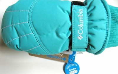 Columbia Mittens (Insulated) Fleece TODDLER Sz 2-4T Girls REEF NWT