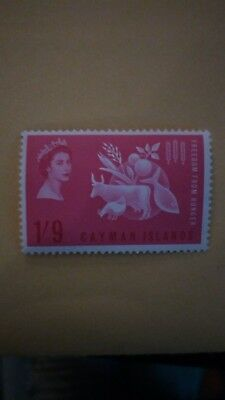 Cayman Island 1963 QE 11 Freedom from hunger Mint-MNH single $2.00