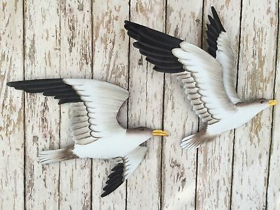 New Metal Seagull Wall Plaques ~ Nautical Beach Decor ~ Shore Bird