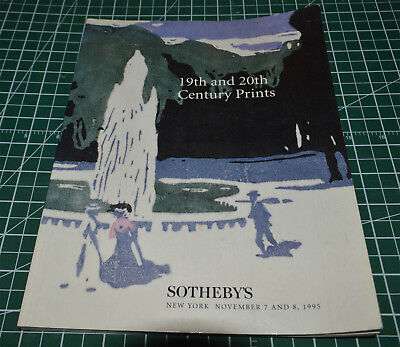Sotheby's New York 19th And 20th Century Prints Nov 7 and 8 1995 Piccaso Chagal