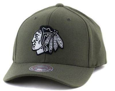 Chicago Blackhawks Cap - Mitchell & Ness NHL Hat - Mitchell And Ness In Olive