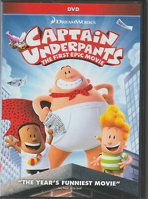 Captain Underpants: The First Epic Movie (2017) DVD -