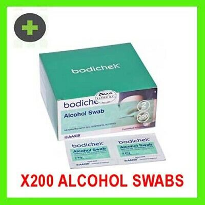 Alcohol Pad Antiseptic Skin Swab Wipe 70% Isopropyl Nail Cleansing Skin Prep 100