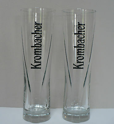 Krombacher Beer Glass Tall 0.2 Litre Eine Perle Der Natur - Set of 2