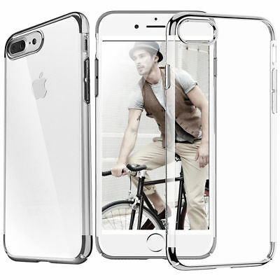 iPhone 8 Plus Ultra Thin Transparent Clear Shockproof Bumper Case For Apple AU