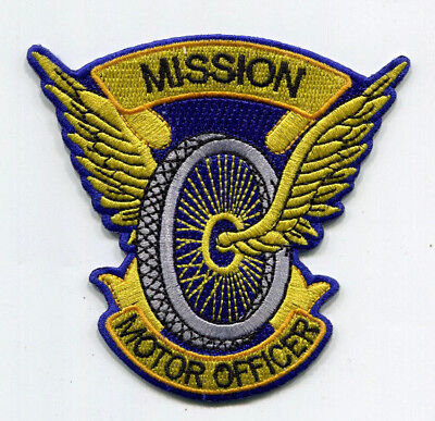 Mission Kansas Police Motor Officer Patch // FREE US SHIPPING!