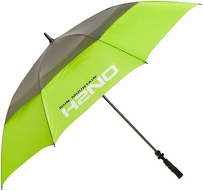 Sun Mountain Golf H2NO Dual Canopy Golf Umbrella Lime/Grey