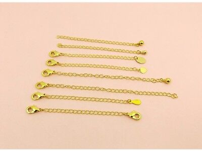 1 x Gold Filled Necklace Chain SAFETY Extension EXTENDER w/Drop or Lobster CLASP