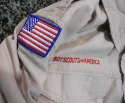 Youth LARGE Boy Scout of America Short Sleeve Shirt Summer Vented ~BSA ~