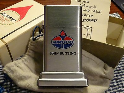 Vintage Zippo Barcroft Amoco Oil Table Lighter