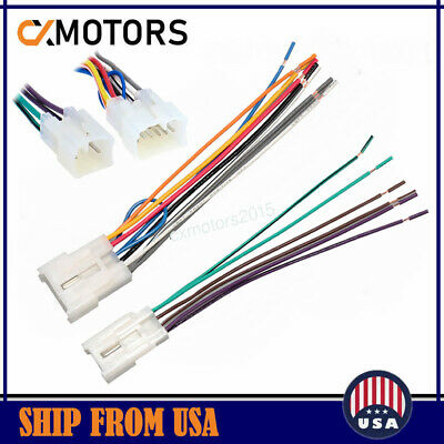 For Toyota Aftermarket Radio Adapter Stereo Installation Wire Harness Cable Plug