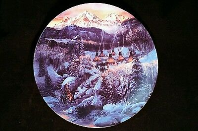 """""""TWO BEARS CAMP"""" By Julie Kramer Cole 'FACES OF NATURE' Collector's Plate 1992"""