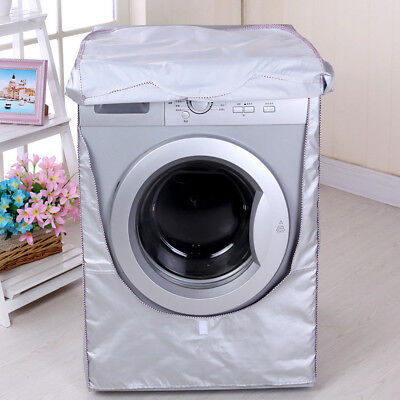 Washing Machine Cover Waterproof Sunscreen Dustproof Cover for Front 85*64*60cm