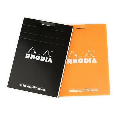 Rhodia dotPad N12 A7 notepad with dot grid paper, 85mm x 120mm, 80 sheets, 80gsm