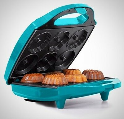 Holstein Housewares HF-09032E Mini Bundt Cake Maker Teal Non Stick Safety Lock