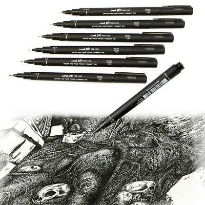 1 Pc Pro Uni Pin Drawing Pen Fine Line 005/01/02/03/05/08 Needle Pen Hot Sell