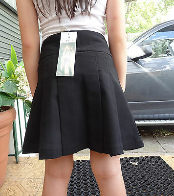 Girl size pleated mini skirts for school uniform or casual black 4,6,8,10,12,14