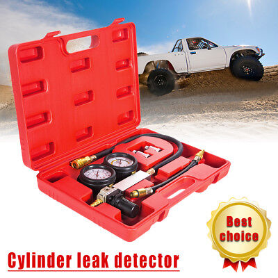 Car Engines Leakage Detector Cylinder Leakdown Tester Leak Detection Dual Gauge