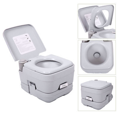 2.8 Gallon 10L Portable Toilet Travel Camping Outdoor/Indoor Commode Flush Potty