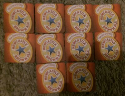 NEWCASTLE BROWN ALE BEER MATS (x10)  - NEW
