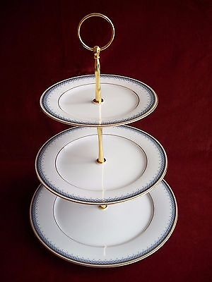 LEGENDARY by NORITAKE # ORIENT EXPRESS 3594  ( 3 TIER CAKESTAND )