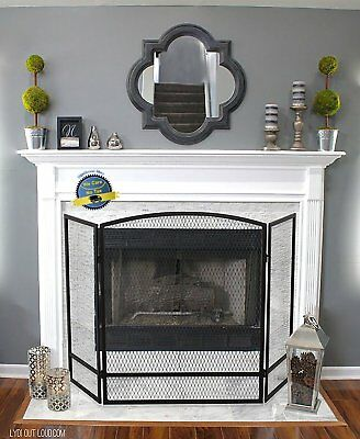 Fireplace Fence Baby Safety Fence Hearth Gate Pet Cat Dog BBQ Metal Fire Gate US