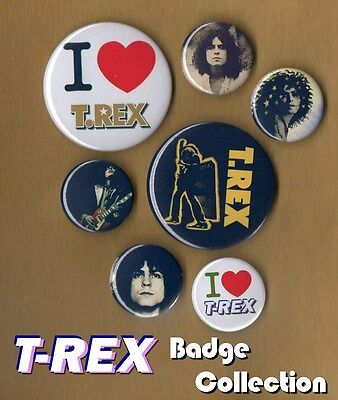 T. REX T REX Button Badge Collection FREEPOST Marc Bolan