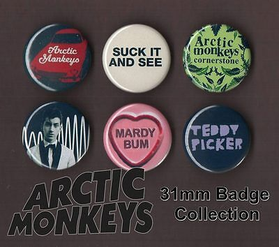 The Arctic Monkeys 31mm Badge Collection Set 1 Alex Turner FREEPOST