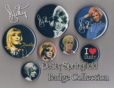 Dusty Springfield Badge Collection Set 2 Free Post FREEPOST Dusty