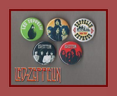 Led Zeppelin - 5 X 31 mm Button Badges Set 1