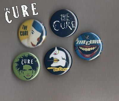 The Cure - Robert Smith  5 X 31 mm Button Badges Set 2